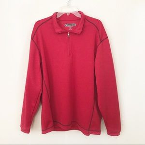 Pebble Beach Performance Golf Red zip Sweater L
